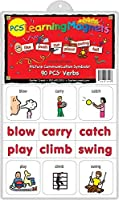 Barker Creek - Office Products Learning Magnets 90 Pieces Verbs (LM-3000) [並行輸入品]
