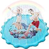 Outivity 噴水マット 噴水おもちゃ プール噴水 プレイマット プールマット プール子供用 キッズ 水遊び 親子遊び プールマット 夏対策 熱中症防止 冷感ひんやり 庭の中に遊び 芝生遊び プレゼント アウトドア 160CM