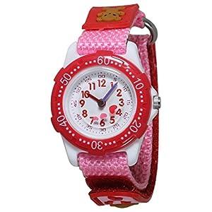 [クレファー]CREPHA 腕時計 アナログ ナイロンベルト マジックテープ ピンク BAK-4143-PK ガールズ 【正規輸入品】
