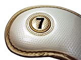 ルルハウス ゴルフ アイアンカバー ホワイト 10個セット 3-9 A PW SW エナメル ホワイト 白