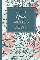 Stuff Neve Writes Down: Personalized Journal / Notebook (6 x 9 inch) STUNNING Tropical Teal and Blush Pink Pattern