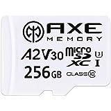 [Amazon限定ブランド] アクス 256GB microSDXCカード A2, UHS-I U3, V30, 4K Ultra HD, C10, SDアダプター付 - AXS2A256