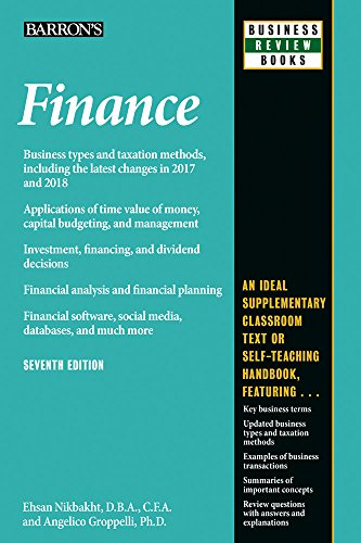 Download Finance (Barron's Business Review) 1438010362