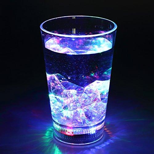 LEDセンサーネオングラス 飲み物を注ぐとLED内蔵のグラス...