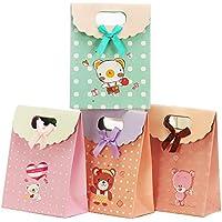ギフト プレゼント 紙袋 袋 ギフトバッグ クリスマス バレンタイン 誕生日 バースデー ラッピング 4枚セット (M)