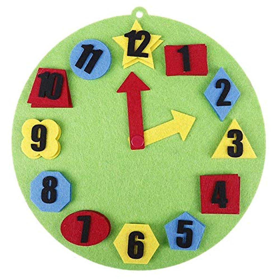 傾向があるアラームあなたが良くなりますHuawei MediaPad M6 8.4 Inch用ラティステクスチャ水平フリップレザーケース 子供のための デジタル時計時計認知補助玩具DIY不織布早期教育モンテッソーリ教育支援数学パズルおもちゃ(グリーン) (Color : Orange)