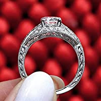 Ranipobo Copper Plated Openwork Diamond Ring Female Wedding Engagement Rings