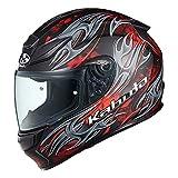 オージーケーカブト(OGK KABUTO)バイクヘルメット フルフェイス SHUMA FLAME(フレイム) フラットブラックレッド (サイズ:S)