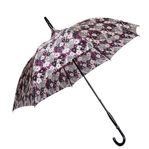【ANNA SUI】アナスイ 日本製 フラワーデザイン婦人長傘(雨傘) 紫