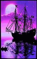 月明かりの海賊船-ブラックライトポスター- 24X36がラップシュリンク平行輸入