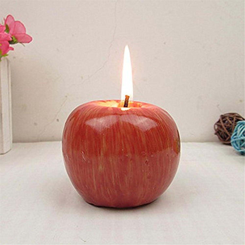(チェリーレッド) CherryRed クリスマスイブ アップル 模造 ライト キャンドル 本物そっくり 果物 2個セット
