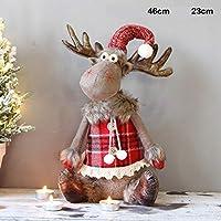 WOYAOFA スコットランドの鹿(メスセクション)座っクリエイティブクリスマスミニクリスマス鹿人形人形の飾りの飾りデスクトップクリスマスの小道具 人工的なクリスマスツリー