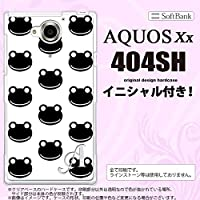 404SH スマホケース AQUOS Xx カバー アクオス ダブルエックス イニシャル カエル・かえる (G) nk-404sh-167ini M