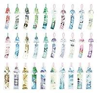 Chinese Windbell Shaped Colorful Bookmarks 30PCS [並行輸入品]
