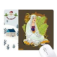 宗教は、十八羅漢図のパターン サンタクロース家屋ゴムのマウスパッド