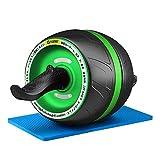 NAKO 腹筋ローラー エクササイズローラー 筋トレ アブホイール 膝マット付き スリムトレーナー トレーニング アシスト機能(グリーン)