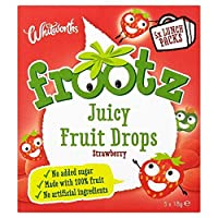 [Whitworths] WhitworthsイチゴFrootzボタン5X18G - Whitworths Strawberry Frootz Buttons 5X18g [並行輸入品]