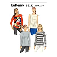 Butterick Patterns B6132 Misses' Top Sewing Template, Size A5 (6-8-10-12-14) by BUTTERICK PATTERNS [並行輸入品]