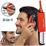 Portable Battery Power Men Multifunction Shaver New Nose Hair Trimmer Micro Touch All-in-One Personal Men's Hair Trimmer for Nose, Ears, Eyebrows, Neck, Beard