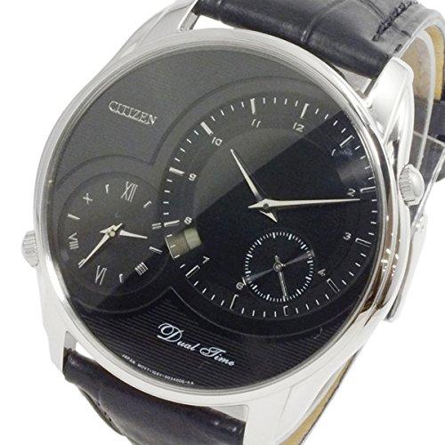 シチズン CITIZEN クオーツ メンズ デュアルタイム 腕時計 AO3009-04E ブラック[並行輸入品]