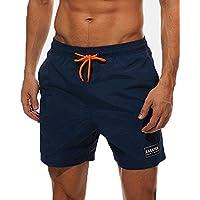 COCOPLAZA Men's Swim Trunks,Quick Dry Beach Shorts with Pockets Mesh Lining Swim Short