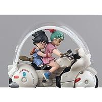 Dragon Ball Z Son Goku Bulma Motorcycle PVCアクションフィギュアおもちゃ人形子供プレゼント