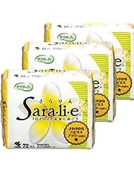 【まとめ買い】サラサーティ サラリエ おりものシート ハピネスフラワーの香り 72コ入×3個