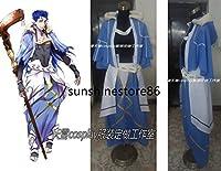「ノーブランド品」コスプレ衣装 Fate/Grand Order クー・フーリン風 マント付き☆コスプレ衣装
