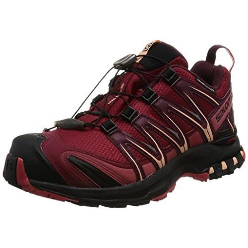 [サロモン] トレッキングシューズ XA PRO 3D CS WP W L39333400 Tibetan Red/BLACK/Mineral Red チベタンレッド/ブラック/ミネラルレッド 25