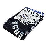 CONVERSE スポーツ (ブラック/ワンサイズ)スポーツタオル CONVERSE コンバース 綿100% ブランドロゴ ワッペン スニーカー柄
