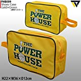 POWER HOUSE パワーハウス シューズケース PHB009 (ゴールド/グリーン)
