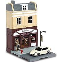 Mille Ti Rana ミニカー と遊べる お店 つながる街 道路 車1台 付き (カフェ コーヒーショップ ポルシェ 911)