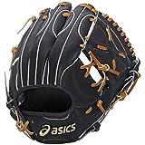 asics(アシックス) 野球 軟式用グローブ(内野手用) ゴールドステージ BGR6GK ブラック/ライトブラウン LH