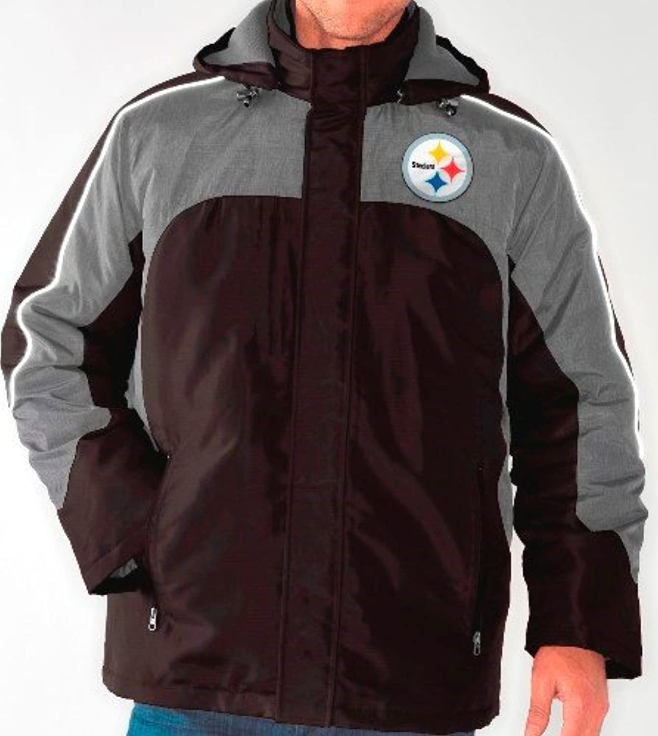 Pittsburgh Steelers nfl「「防御システム3 - in - 1 Heavyweightパフォーマンスジャケット