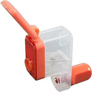 カール事務器 鉛筆削り くるくる カールくん 日本製 オレンジ CPS-80-O
