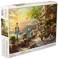 1000ピースジグソーパズル リビエラの花咲くカフェ(49×72cm)