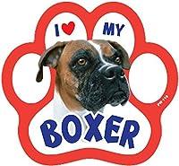 sandical足プリントマグネット–I Love My Boxer