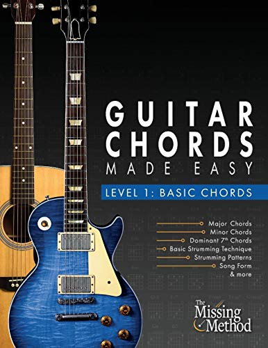 Download Guitar Chords Made Easy, Level 1 Basic Chords: Simple Steps to Get You Playing Guitar Chords Quickly 1986127273