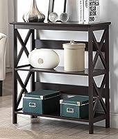 Convenience Concepts Oxford 3-Tier Bookcase, Espresso [並行輸入品]