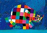 108ピース ジグソーパズル プリズムアート ぞうのエルマー エルマーとまいごのくま(18.2x25.7cm)