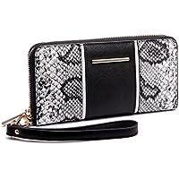 Miss Lulu Women Snake Print Fashion Long Purse Wallet Ladies PU Leather Clutch Hand Bag Card Holder