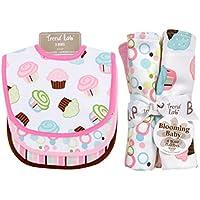 Trend Lab Bouquet Set - Cupcake - Bib & Burp Cloth by Trend Lab