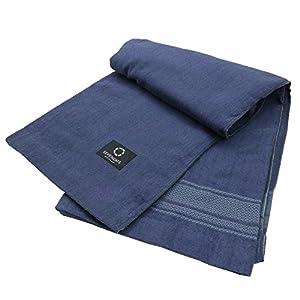 東京西川 タオルケット シングル 綿100% SEVENDAYS セブンデイズ ブルー RR07030501NB