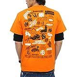 (アスナディスペック)ASNADISPEC メンズ tシャツ 大きいサイズ 半袖 History プリント ロゴtシャツ asst2222