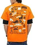 (アスナディスペック)ASNADISPEC メンズ tシャツ 大きいサイズ 半袖 History プリント ロゴtシャツ asst2222 (XL, ORANGE) (¥ 2,819)