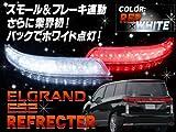 エルグランドE52 LED リフレクター片側18SMD使用 クリア スモール・ブレーキ・バック連動点灯