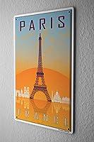 Tin Sign ブリキ看板 City Paris France