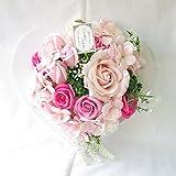 母の日 ギフト 花 誕生日プレゼント女性 プレゼント ソープフラワー フレグランス フラワー 造花 (壁掛けハートピンク)