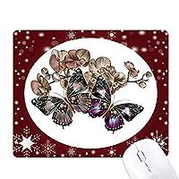 花と蝶 オフィス用雪ゴムマウスパッド