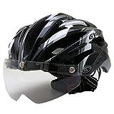 GVR G-307V サイクルヘルメット JCF公認 09 ディフェンダー/ブラック 54-60cm クリアシールド付 G-307V